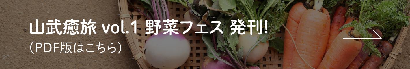 山武癒旅 vol.1 野菜フェス 発刊! (PDF版はこちら)
